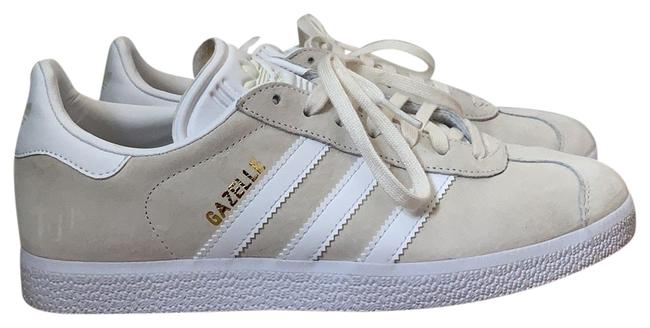Item - Beige and White Gazelle Sneakers Size US 8 Regular (M, B)