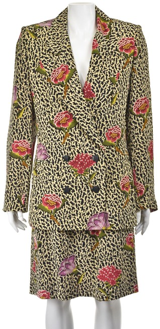 Item - Multi-colored Gloria Sachs Silk Floral Skirt Suit Size 6 (S)