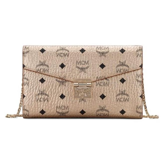 Item - Patricia Visetos Continental Wallet On A Chain Berlin Gold Leather Shoulder Bag