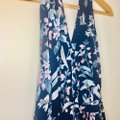 gal meets glam Blue Siena Floral Halter Neck Chiffon Long Casual Maxi Dress Size Petite 4 (S) gal meets glam Blue Siena Floral Halter Neck Chiffon Long Casual Maxi Dress Size Petite 4 (S) Image 4