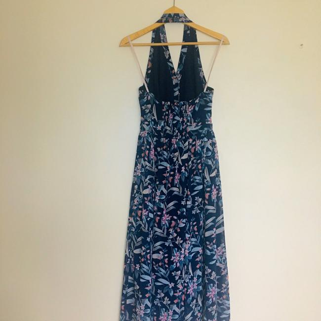 gal meets glam Blue Siena Floral Halter Neck Chiffon Long Casual Maxi Dress Size Petite 4 (S) gal meets glam Blue Siena Floral Halter Neck Chiffon Long Casual Maxi Dress Size Petite 4 (S) Image 7