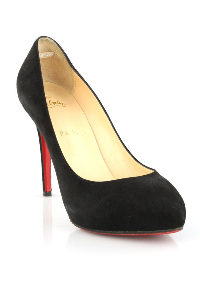 Christian Louboutin Black 120 New Declic 120 Black Suede Pumps 58e6cc