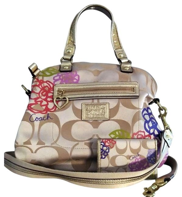 Item - Signature C Daisy with Matching Wallet Multicolor Canvas Cross Body Bag