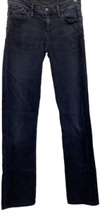 Goldsign Stretchy Straight Leg Jeans-Dark Rinse