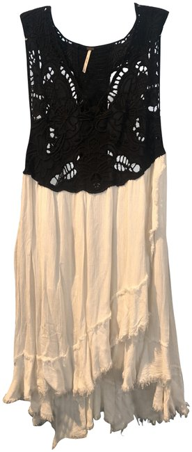 Free People Black and White Mid-length Short Casual Dress Size 8 (M) Free People Black and White Mid-length Short Casual Dress Size 8 (M) Image 1
