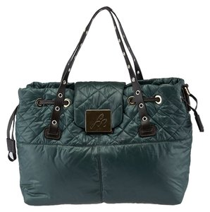 Sonia Rykiel Nylon Quilted Tote in Green