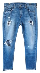 Rag & Bone Distressed Stretchy Skinny Jeans-Distressed