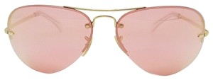 Ray-Ban Rayban Sunglasses Gold Pink Mirror Aviator AUTHENTIC