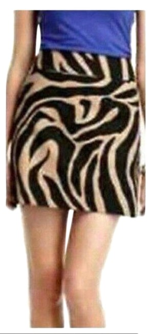 Item - Beige Black Tan Zebra Straight 2 Pocket Skirt Size 6 (S, 28)