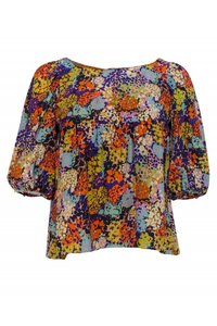 Ali Ro Tops Printed Multicolor Cropped Top