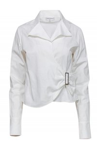 Anne Fontaine Shirts Buckled Top white
