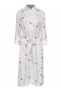 Tucker Cocktail Dresses Heart Button Down Shirt cream