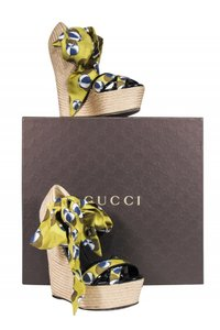 Gucci Anklestrap Anklewrap Pumps Beach green Wedges