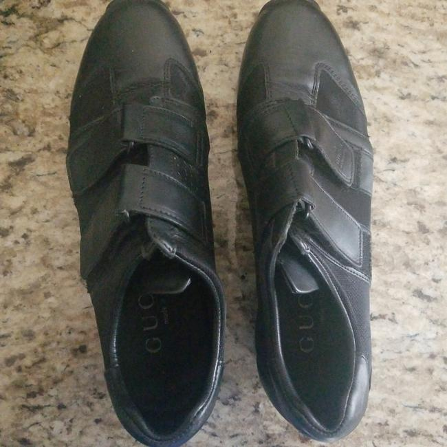 Item - Black Leather with Nylon Fabric Vintage Walking Sneakers Size US 7 Narrow (Aa, N)