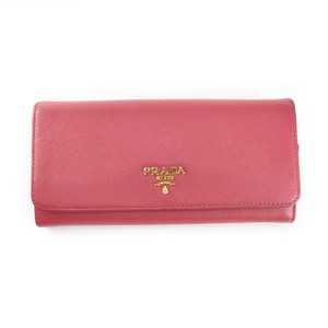 Prada Saffiano Leather & Logo Long Folding (np)