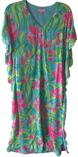 Item - Pink Blue and Yellow Summer Collection Long Casual Maxi Dress Size 6 (S)