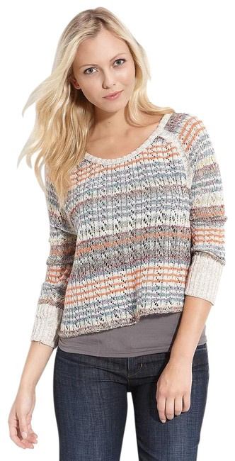 Item - Lost In The Forest Crop Multicolor Sweater