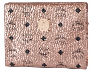 MCM Purse Handbag Pouch Rose Gold Clutch