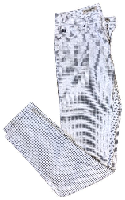 Item - White with Gray Squares Rn 104857 Skinny Jeans Size 6 (S, 28)