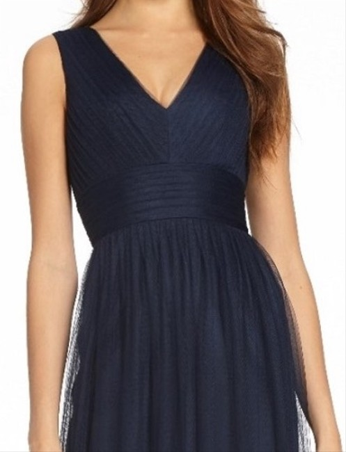 Item - Navy Tulle Marnie - 450554 Formal Bridesmaid/Mob Dress Size 10 (M)
