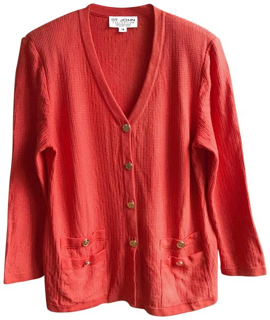 Item - Orange Gold Collection Knit Sweater Cardigan Size 14 (L)
