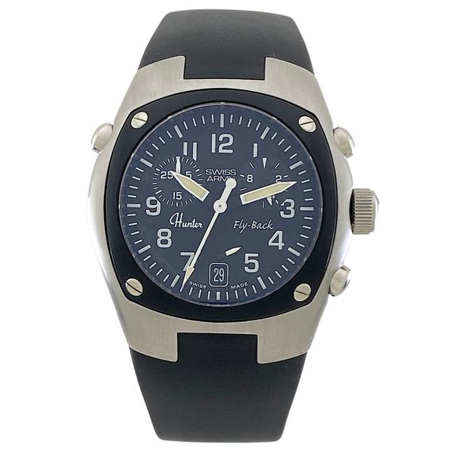 Hunter Silver Swiss Army Mach 3 Air Force Chrono Men's Sapphire Quartz Watch Hunter Silver Swiss Army Mach 3 Air Force Chrono Men's Sapphire Quartz Watch Image 1