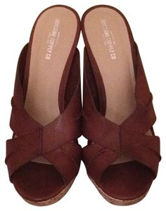 Mossimo Supply Co. saddle brown with cork Wedges
