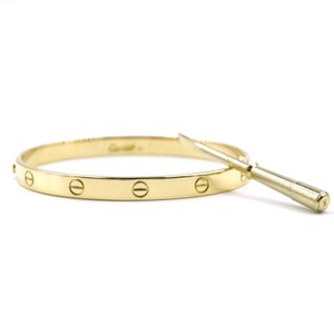 Cartier 18k 750 Gold Love Bracelet bangle cuff size 20 Old Screw
