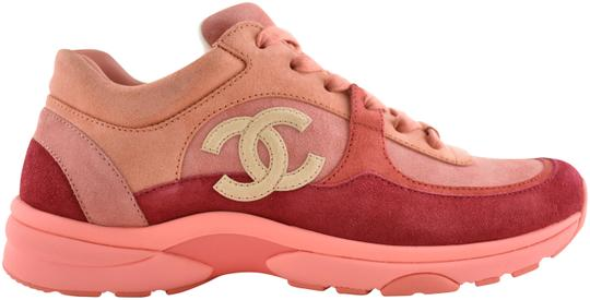 Chanel Pink 19s Coral Red Beige Suede