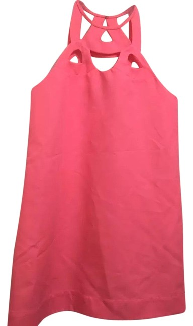 Item - Pink Classic Neon Short Night Out Dress Size 10 (M)