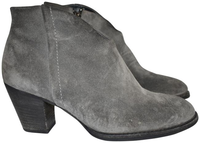 Item - Grey Delgado Ankle Stacked Burnished Suede (B25) Boots/Booties Size US 7.5 Regular (M, B)