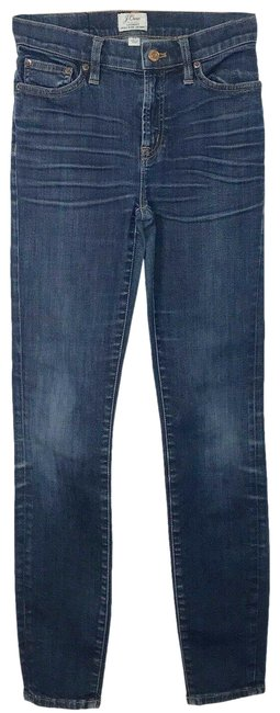 Item - Blue Medium Wash Lookout High Rise Resin Denim Skinny Jeans Size 24 (0, XS)