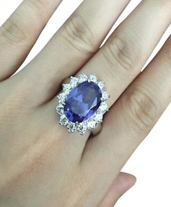9.2.5 Huge 7 carat tanzanite cocktail ring size 7
