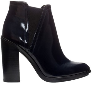 Zara Patent Leather Midnight Blue Boots