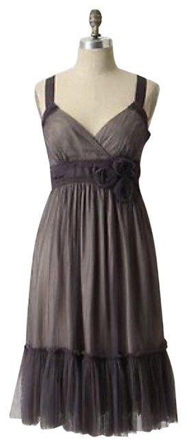 Item - Dusty Purple/Gray Moulinette Soeurs Spirited Short Night Out Dress Size 4 (S)