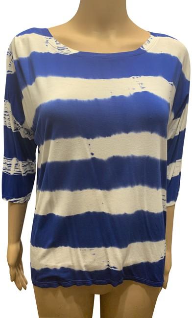 Item - Blue and White No Tee Shirt Size 4 (S)