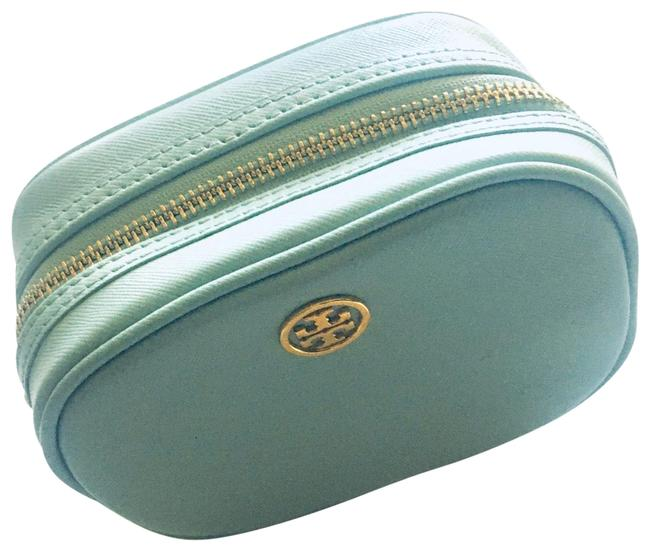 Tory Burch Mint Green Pouch Cosmetic Bag Tory Burch Mint Green Pouch Cosmetic Bag Image 1