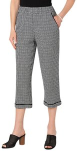 CHRISTOPHER AND BANKS Capri/Cropped Pants black and white