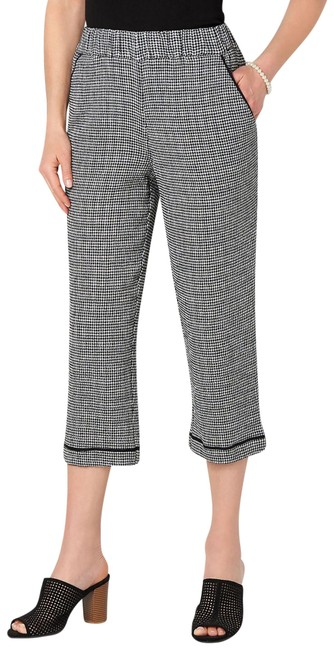 Item - Black and White Gingham Soft Crop Pants Size 14 (L, 34)