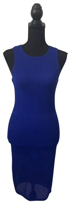 Item - Blue Cobalt Perforated Racerback Mid-length Night Out Dress Size 2 (XS)