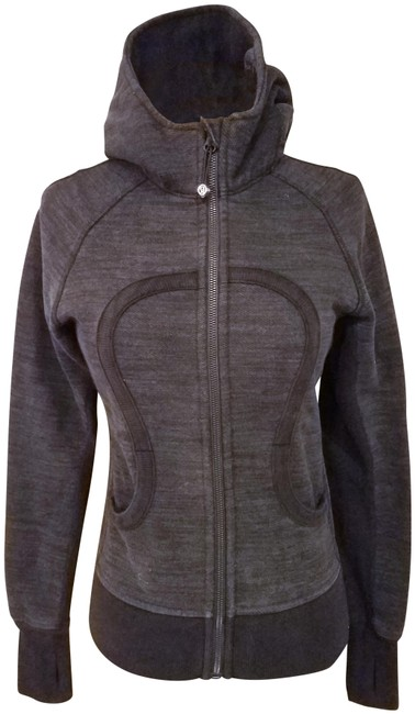 Item - Gray Woman Yoga Exercise Hooded Breathe Deeply Jacket Activewear Size 4 (S)