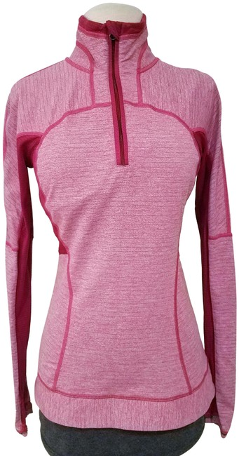 Item - Pink Woman Yoga Exercise Sweater Half Zipped Activewear Size 4 (S)
