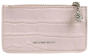 Alexander McQueen Baby Pink Embossed Leather Card Holder 501022 5823