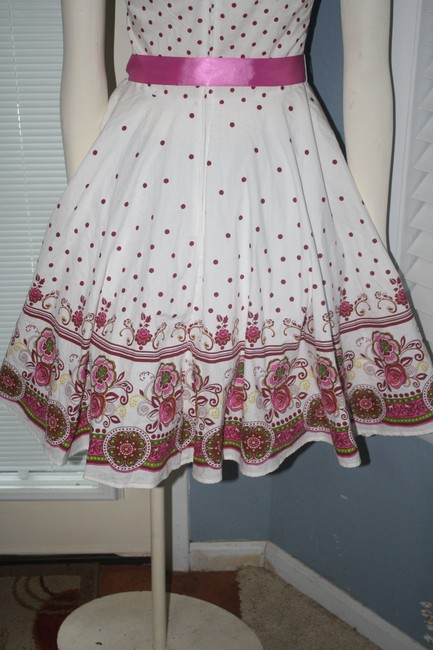 PAPAYA short dress WHITE, PINKS, MULTI on Tradesy