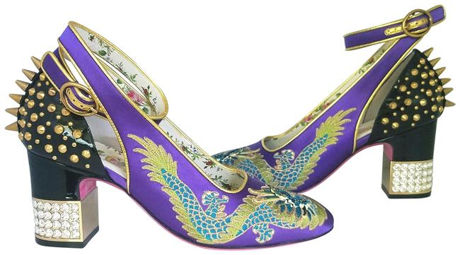 Item - Purple 2018 Casper Dragon Embroidered Pumps Size EU 36 (Approx. US 6) Regular (M, B)