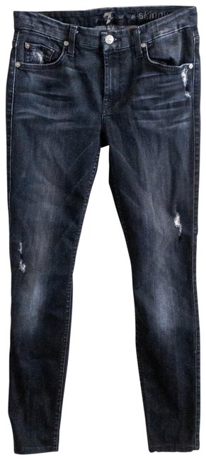 Item - Washed Black Distressed Ankle Skinny Jeans Size 4 (S, 27)