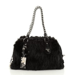 Prada Nylon Fur Shoulder Bag