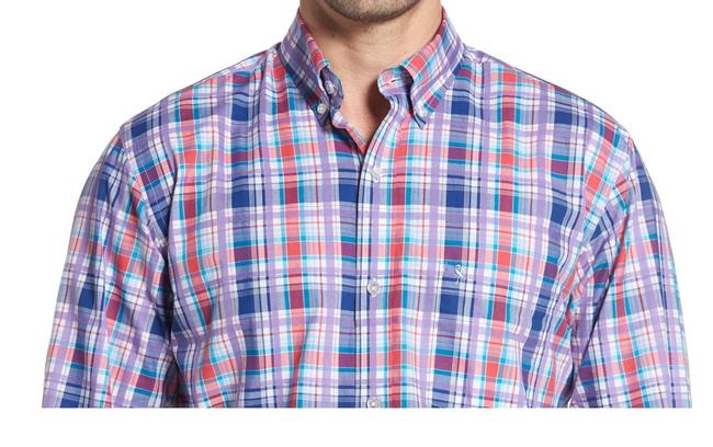 Tailorbyrd Multicolor Mens Short Sleeve Alder Sport Shirt Button-down Top Size 12 (L) Tailorbyrd Multicolor Mens Short Sleeve Alder Sport Shirt Button-down Top Size 12 (L) Image 1