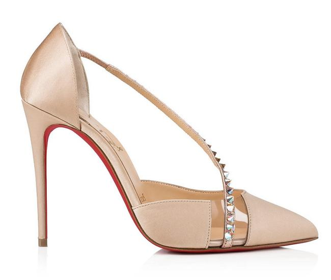Christian Louboutin Red Degrastrass Pvc 100 Clear Plastic