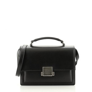 Saint Laurent Bellechasse Leather Satchel in Black